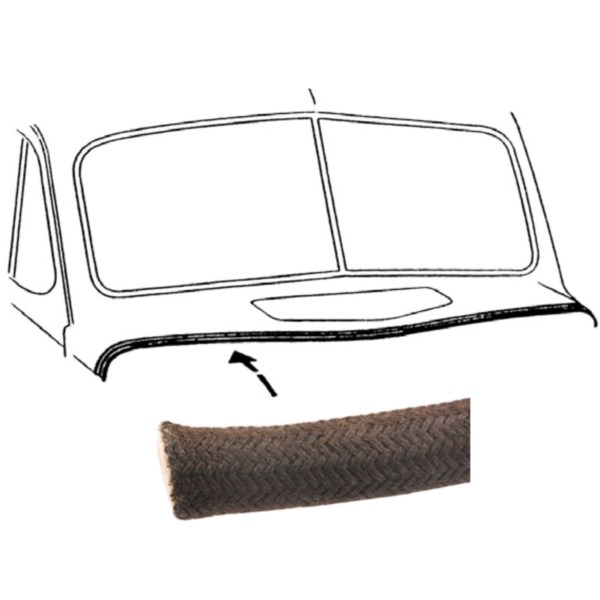 1940 1941 1942 1946 Chevy GMC TRUCK Hood Lace Rubber w Clips Kit Panel Suburban