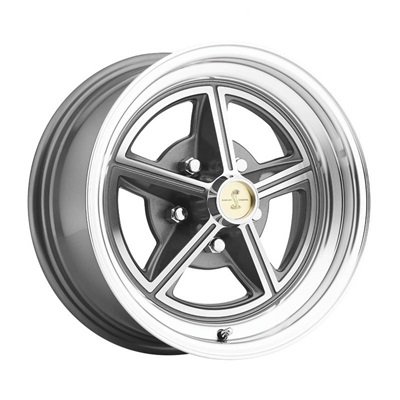 15 x 7 Magstar II Alloy Wheel, 5 on 4.5 BP, 4.25 BS, Charcoal / Machined
