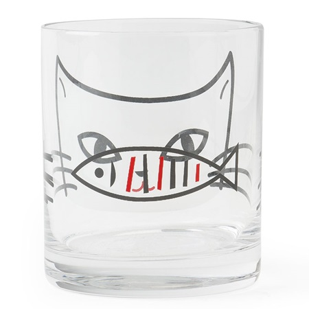 Glass Cup Cat 10 Oz.