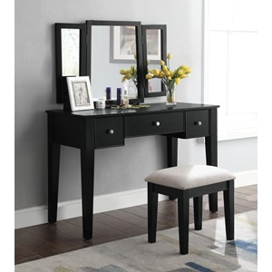 90360 SEVERUS BLACK VANITY SET