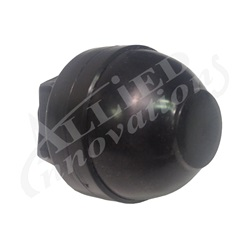 "AIR BUTTON BELLOW: SMALL 1 3/32""  BLACK"