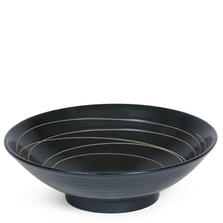 "Black Stitch 9.75"" Serving Bowl"