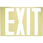 Safe-T-Lume Photoluminescent Exit Sign Overlay
