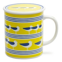SEAGULLS 8 OZ. LIDDED MUG - YELLOW