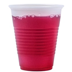 14 OZ TRANSLUCENT PLASTIC RIBBED COLD CUP,