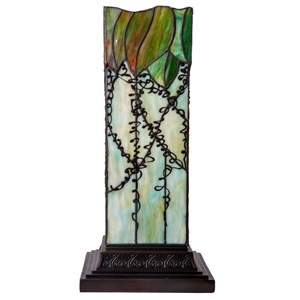 "17""H Tiffany Style Lavish Vine Hurricane Uplight"