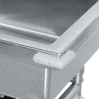 Advance Tabco 9-SS-2 Corner Bumpers for Mobile & Silver Soak Sinks