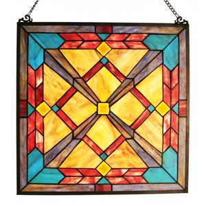 "18""H Tiffany Style Southwest Sunset Panel"
