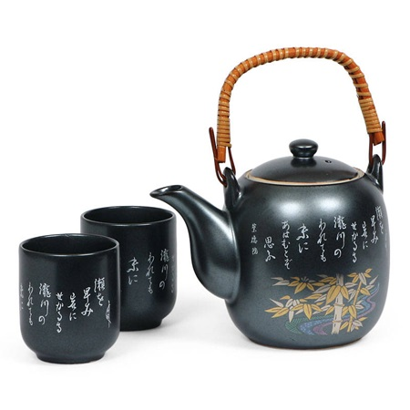 Gold Bamboo Kintake Tea Set