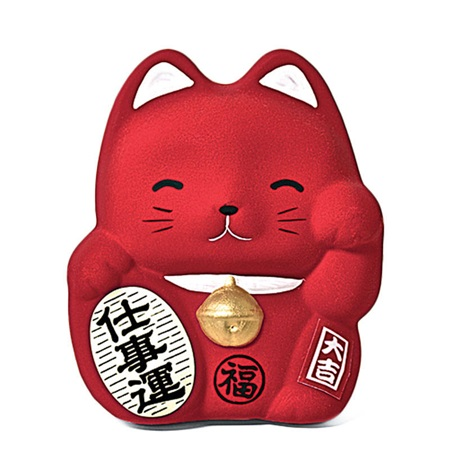 Feng Shui Fortune Cat Bank - Red