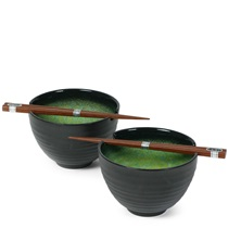 "Ariake Green 5.5"" Bowl For Two Set"