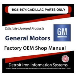 1935-1974 Cadillac Factory Parts Manual, CD