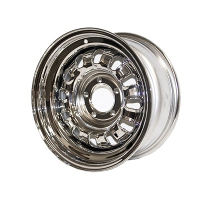 1968-69 Mustang 15X7 Chrome Styled Steel Wheel