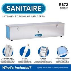 Sanitaire Model RS72 Included Accessories