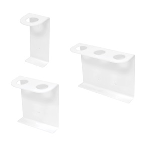 16oz Boston Rd Tall Dispenser Brackets, White