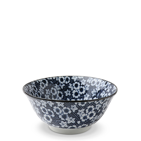 "Blue & White Mini Floral 5.75"" Bowl"