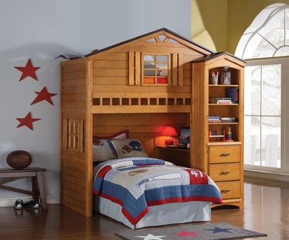 10163 HOUSE BUNKBED FRONT CHEST