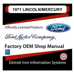 1971 Lincoln-Mercury Factory Shop Manual, CD