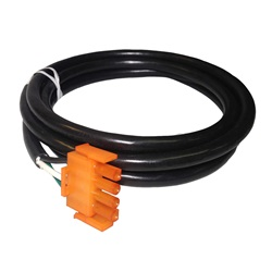 "AMP PLUG: AUX 4-PIN 14/3 X 72"" ORANGE"