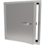 Exterior Access Door with Non-Locking Handle