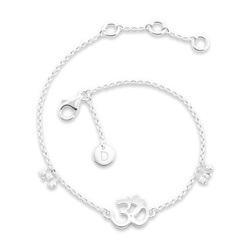 Daisy London Good Karma Bracelet, Om