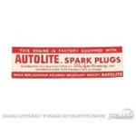 Air Cleaner Decal (Autolite 8 Cylinder)