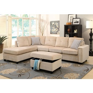 52705 BELVILLE BEIGE SECTIONAL SOFA