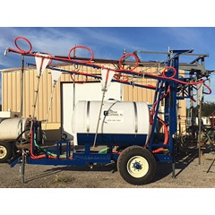 400 gallon blueberry hoop boom sprayer CCI side view