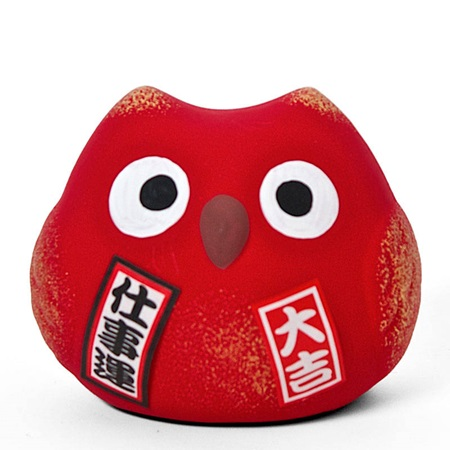 FENG SHUI OWL - RED