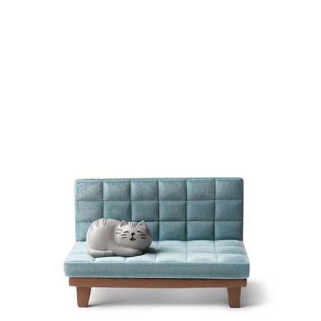 Phone Stand Cat on Sofa Blue