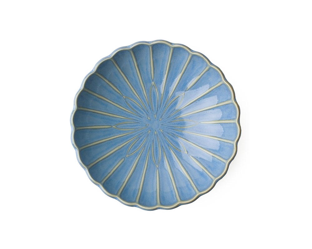 "Kiku 6.5"" Shallow Bowl - Light Blue"