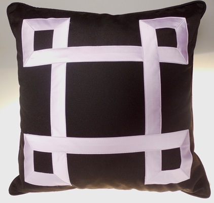 Purple Interwoven Pillow