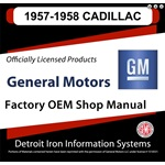 1957-1958 Cadillac Factory Shop Manual, CD