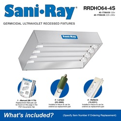 Sani•Ray RRDHO64-4S Included Accessories