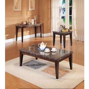 07143B BLACK MARBLE TOP END TABLE