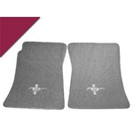 Custom Full-Size Carpet Floor Mats (Maroon)