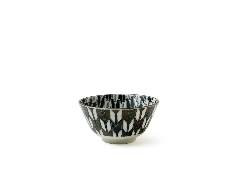 "Komon Yagasuri 5"" Rice Bowl"