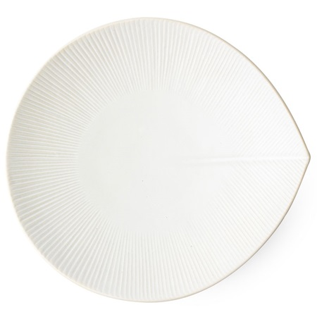 "Moa Leaf 10.25"" X 9.5"" Plate - Yellow"