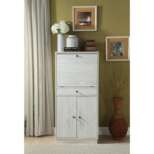 97545 ANTIQUE WHITE WINE CABINET