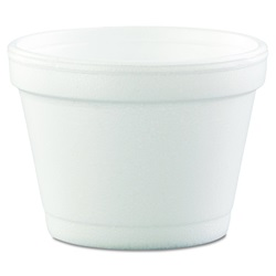 4J6 DART 4 OZ SQUAT WHITE FOAM CONTAINER, 1000/CASE