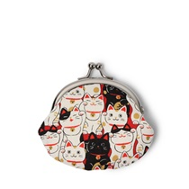 Purse Blue Fortune Cats Coin