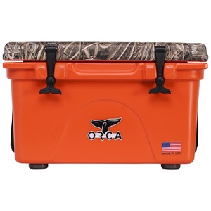 Realtree Max 5 Camo Lid Blaze Orange 26 Quart