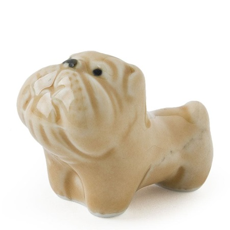 Bulldog Chopstick Rest - Brown