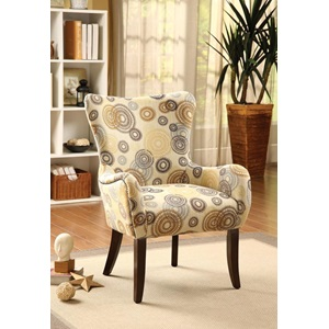 59077 ACCENT CHAIR BEIGE/CIRCLES F.