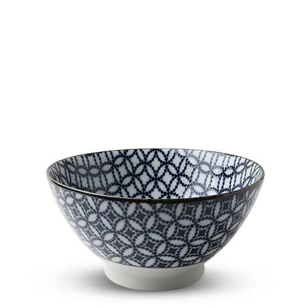 "Blue & White Shippou 7"" Noodle Bowl"
