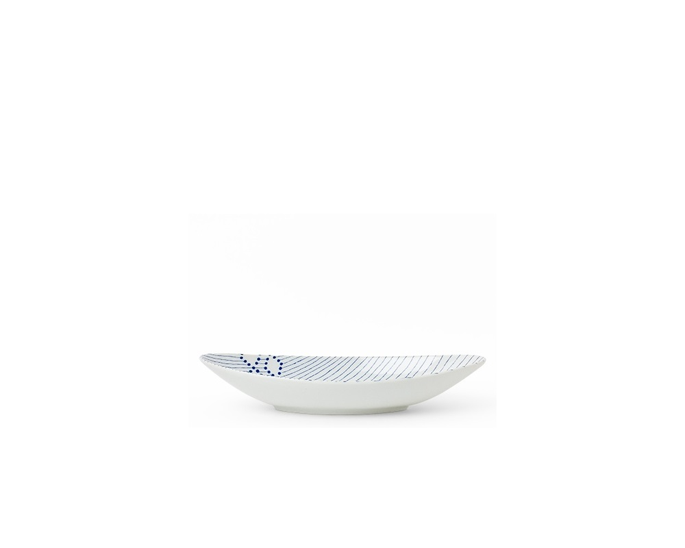 Blue Diamonds Oval Bowl