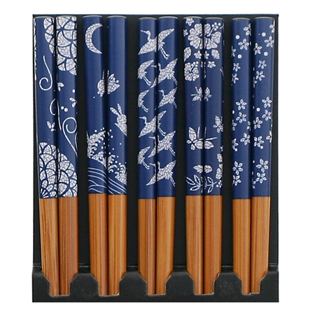 Blue & White Print Chopsticks Set