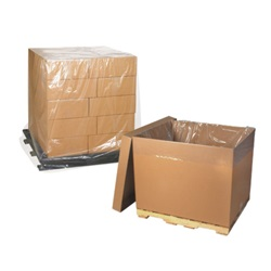 "46 X 36 X 72"" 3 MIL CLEAR POLY PALLET COVER,"