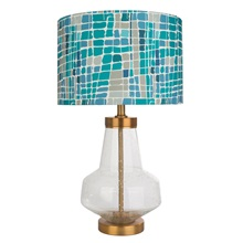 "24.5""H Kris Ruff by River of Goods Berkeley Glass Table Lamp"