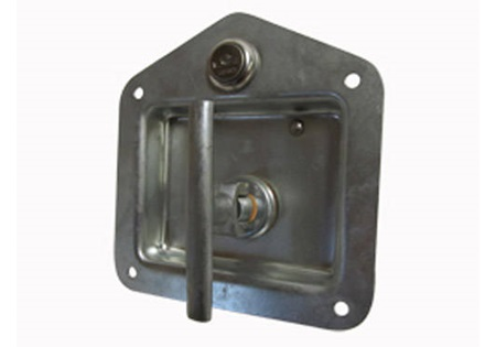 Chrome Locking Flush Latch with T-Handle